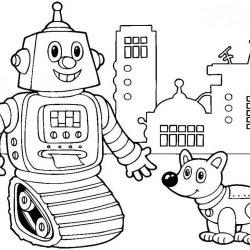 Роботы — раскраски