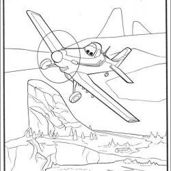 Самолеты — раскраски