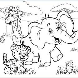 Слон — раскраски