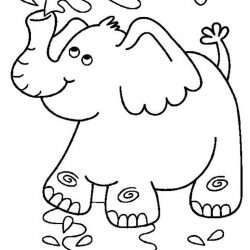 Слон - раскраски