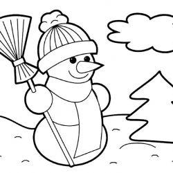 Снеговики - раскраски