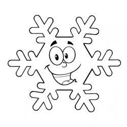 Снежинки — раскраски
