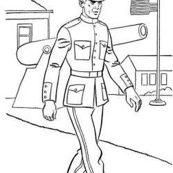 Солдаты - раскраски