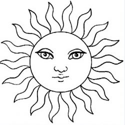 Солнышко - раскраски