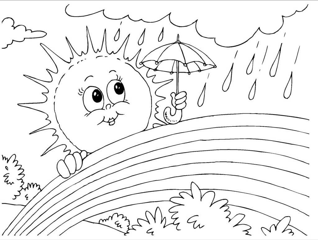 рисунок солнечного дня карандашом ведет очень
