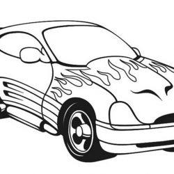 Спортивные авто - раскраски