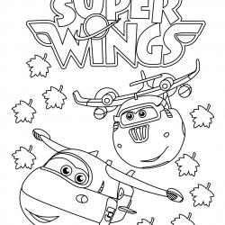 Супер крылья — раскраски