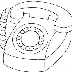 Телефон - раскраски