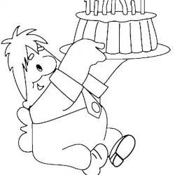 Тортики — раскраски