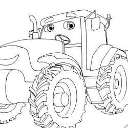 Тракторы — раскраски