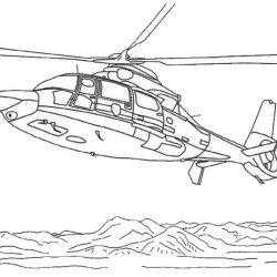 Вертолёты - раскраски