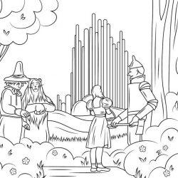 Волшебник изумрудного города - раскраски