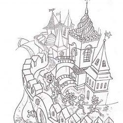 Волшебник изумрудного города — раскраски