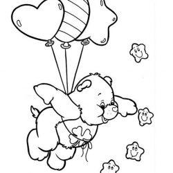 Воздушные шары - раскраски