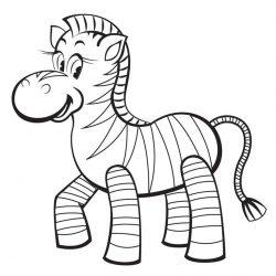 Зебра - раскраски