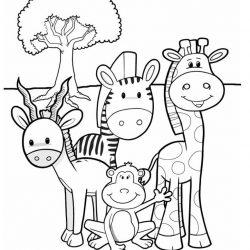 Жираф — раскраски
