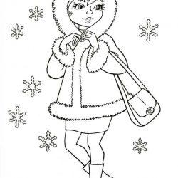 Зима - раскраски