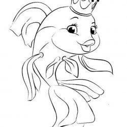 Золотая рыбка - раскраски