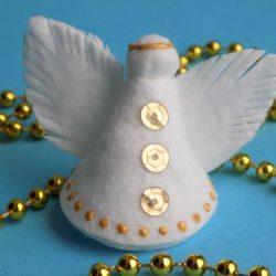 Ангелочек из ватного диска