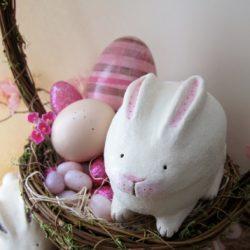 Идея поделки — Пасхальный кролик папье маше
