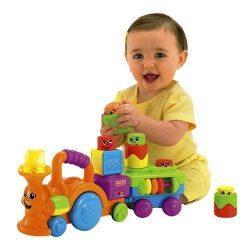 Играем с ребенком — веселый паровозик Fisher Price
