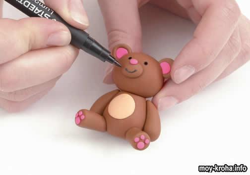 Как лепить медвежонка своими руками