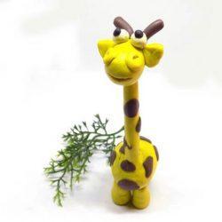 Как слепить бегемота и жирафа из пластилина