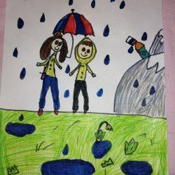 Рисунок - Что мне день, что мне зной, что мне дождик проливной