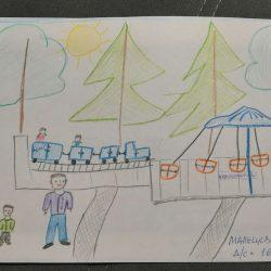 Рисунок — В парке дружно мы гуляем