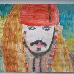 Рисунок Джек-Воробей