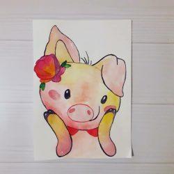 Рисунок — Поросёнок Нюша
