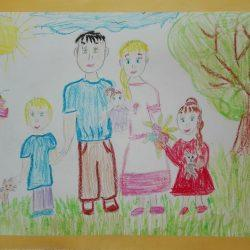 Рисунок Софьи — Дружная семья