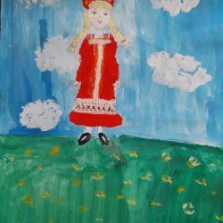 Рисунок — Русская красавица
